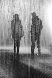 conversation in the rain by flashcard