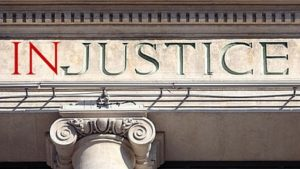 Injustice of being sued
